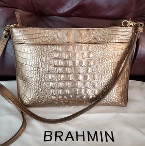 BRAHMIN CROSSBODY BAG( GOLD ACCENTS)